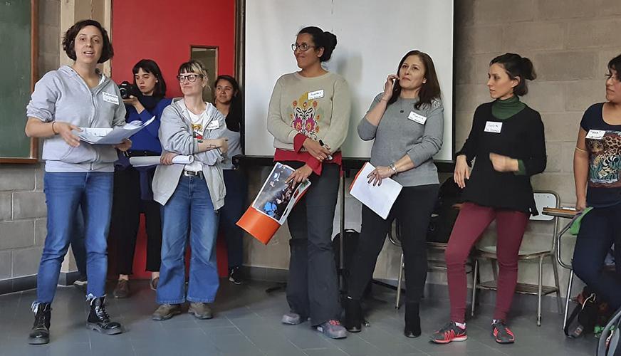 Presentación junto a trabajadoras autogestionadas en la UNQui