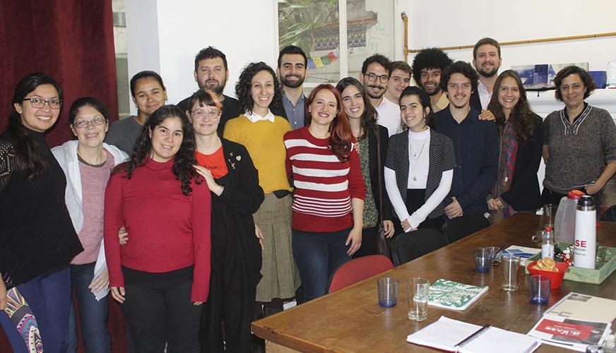 Encuentro con estudiantes de grado de San Pablo, Brasil